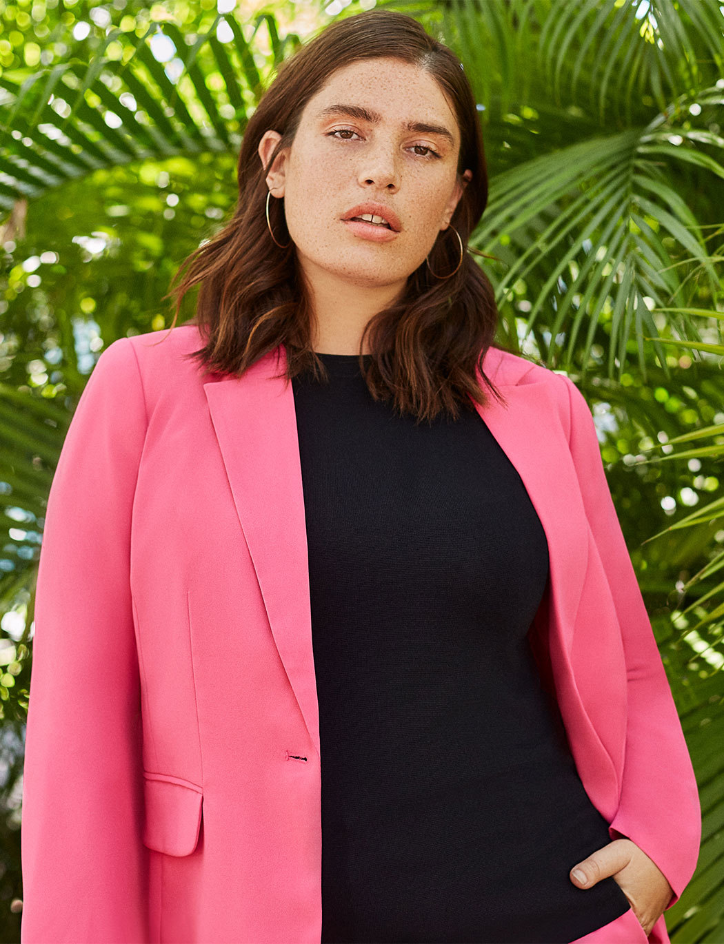 Long Single-Button Blazer
