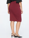 9-to-5 Stretch Work Skirt Cabernet