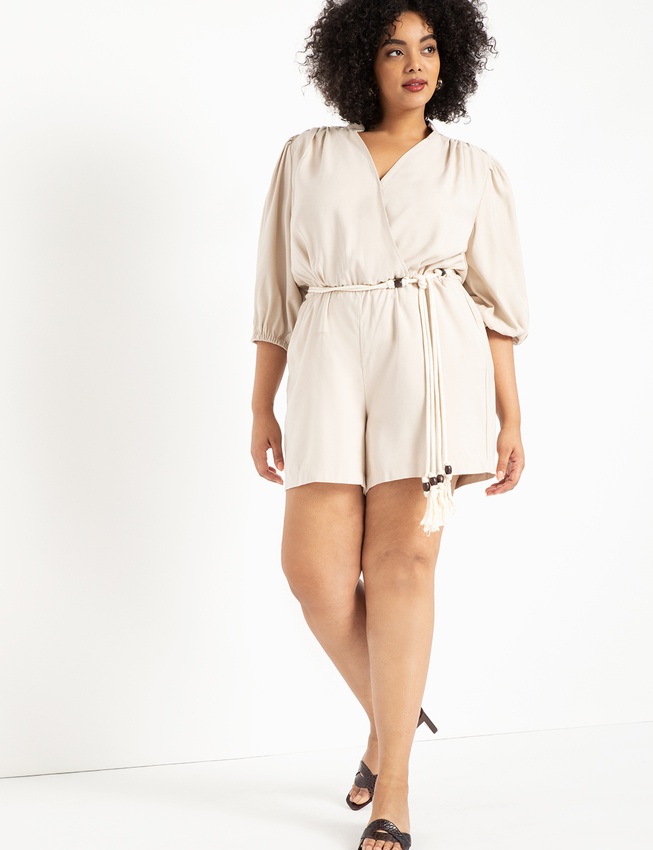 Soft Romper with Belt