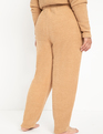 Satin Tie Detail Jogger Pant Tan