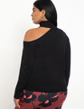Cold Shoulder Sweater Black