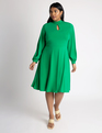 Keyhole Fit & Flare Dress Jolly Green