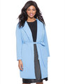 Studio Belted Trench French Blue