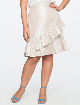 Studio Asymmetric Ruffle Skirt