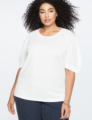 Structured Puff Sleeve Top