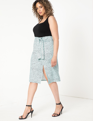 Tie Front Skirt with Slits