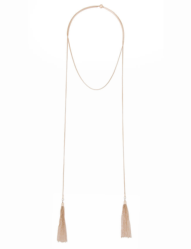 Wrap Necklace with Tassels