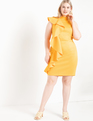 Ruffle Detail Mock Neck Dress Citrus