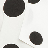 Soft White Ground with Black Polka Dots