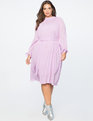 Easy Midi Dress Sheer Lilac