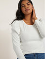 Dramatic Puff Long Sleeve Tee Soft White