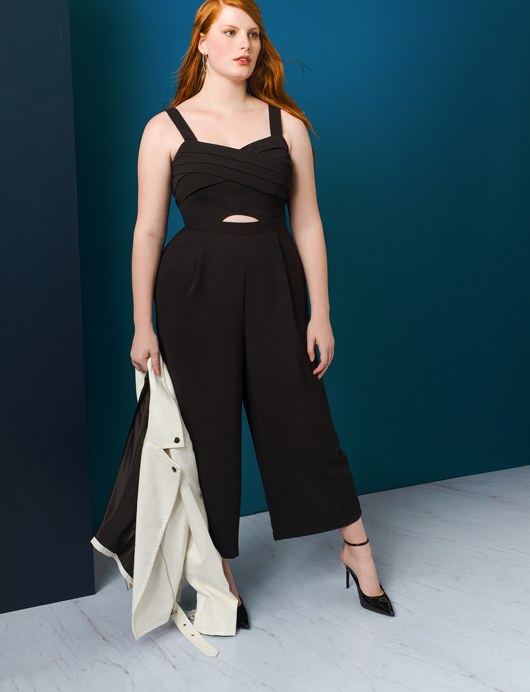 Cross Front Cropped Jumpsuit