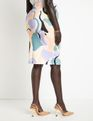 Neoprene Pencil Skirt Aruba Blue
