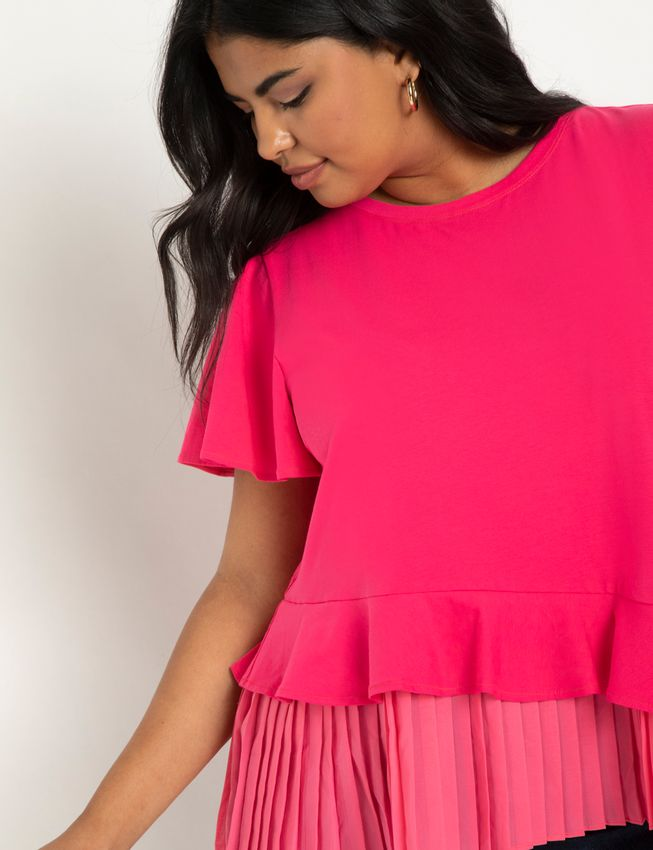 Pleated Hem Tee