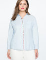 ELOQUII x Katie Sturino Dropped Shoulder Top Blue Fox