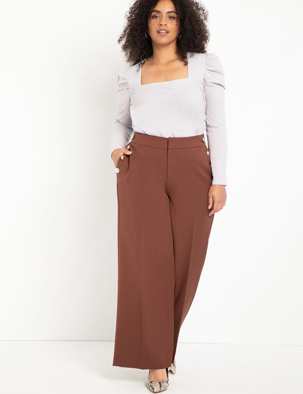Dramatic Puff Sleeve Top with Square Neck