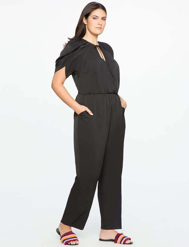 Wrapped Sleeve Jumpsuit