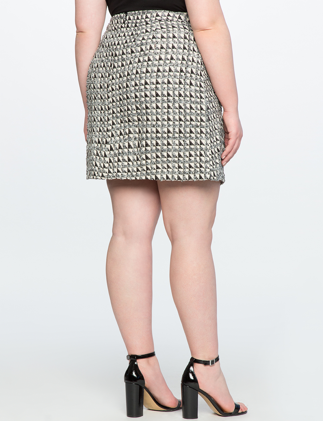 Tweed A-Line Skirt with Pockets