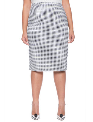 Novelty Textured Column Skirt