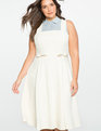 Studio Bow Detail Fit & Flare Dress
