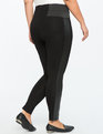 Miracle Flawless Quilted Side Stripe Legging Totally Black
