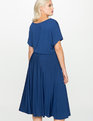Short Sleeve Midi Dress BLUE DEPTH