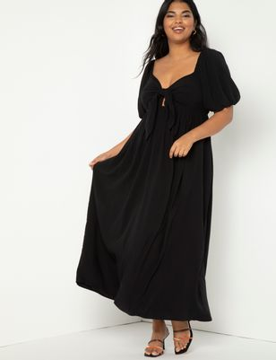Tie Front Maxi Skirt Dress