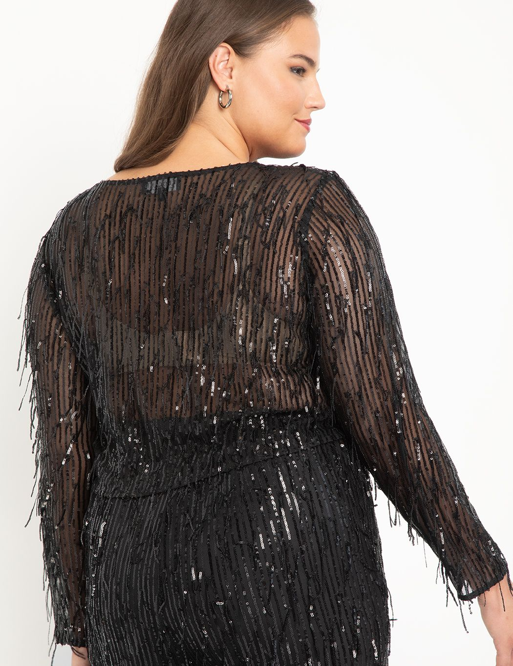 Fringe Sequin Top