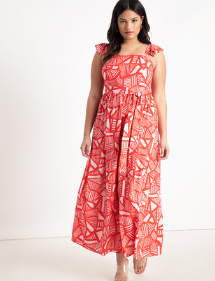 e85dae5f45887 Ruffle Strap Maxi Dress ...
