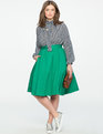 Kaya Midi Skirt Bright Emerald