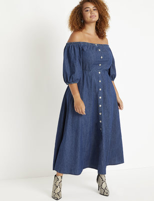 Off the Shoulder Puff Sleeve Dress