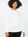 Twist Back Top Soft White