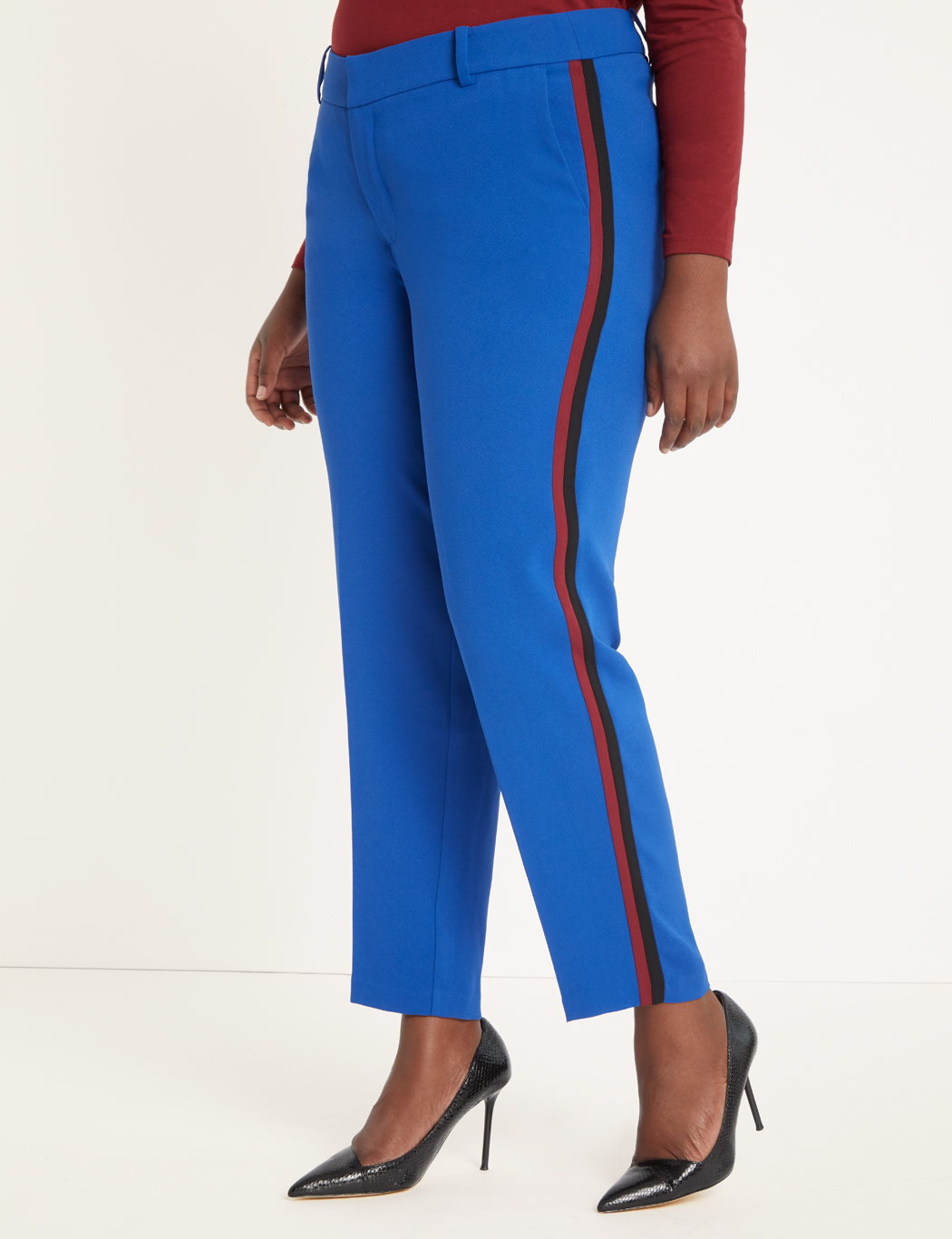 Slim Leg Trouser with Side Stripes