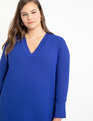 Easy V Neck Tunic Cobalt