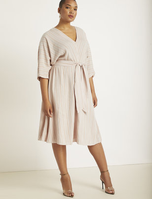Dolman Sleeve Tie Waist Dress