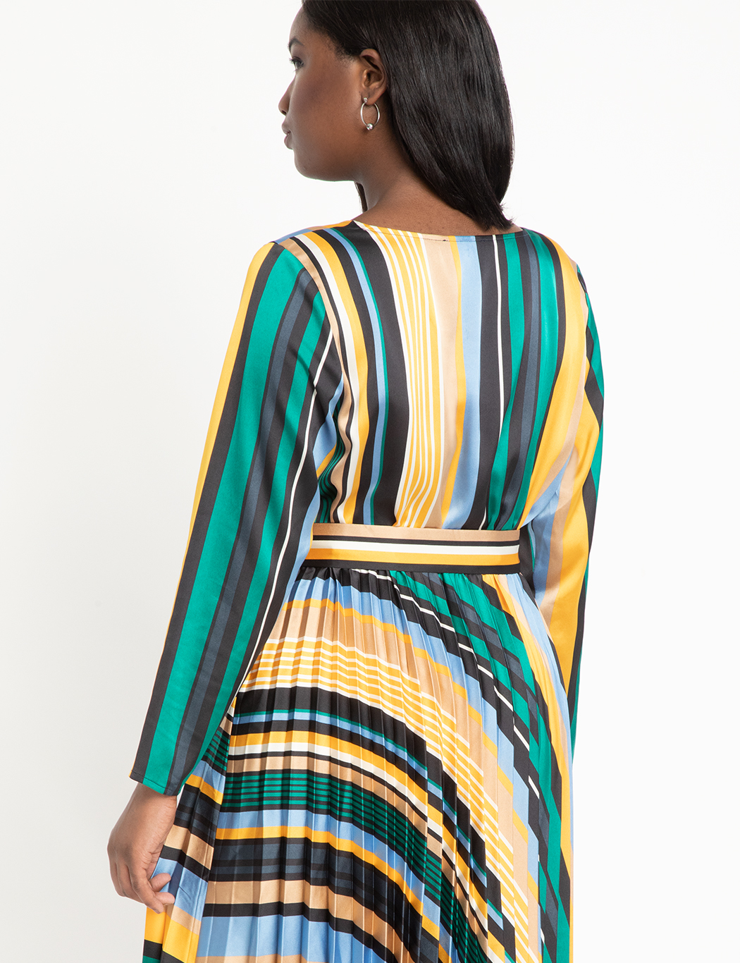 Sunburst Pleated Midi Dress