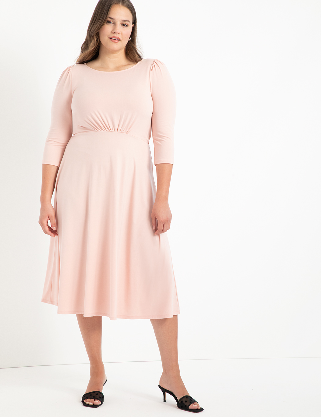 Boat Neck Dress With Back Detail 2