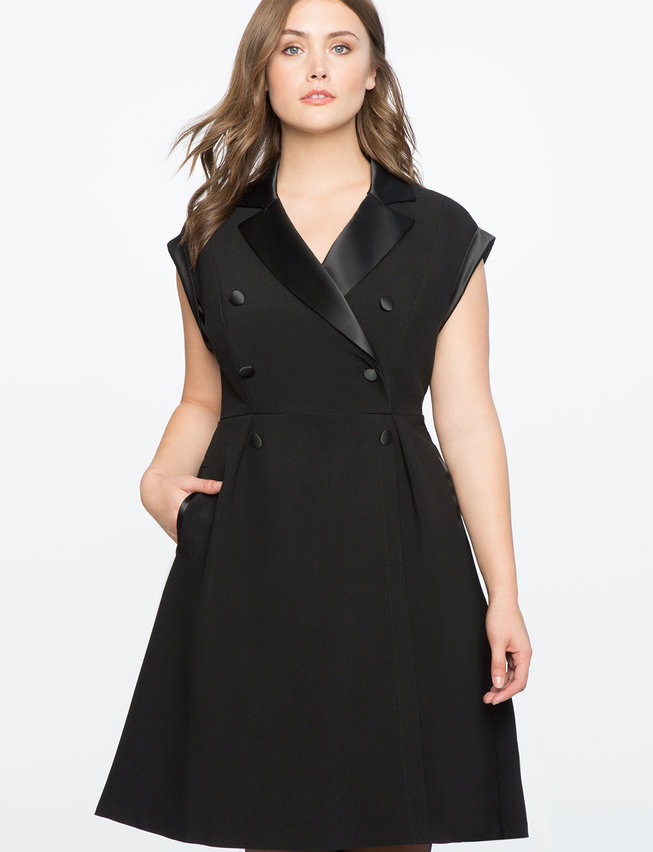 Double Breasted Tuxedo Dress Womens Plus Size Dresses Eloquii