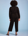 ELOQUII Elements Knit Utility Jumpsuit Black