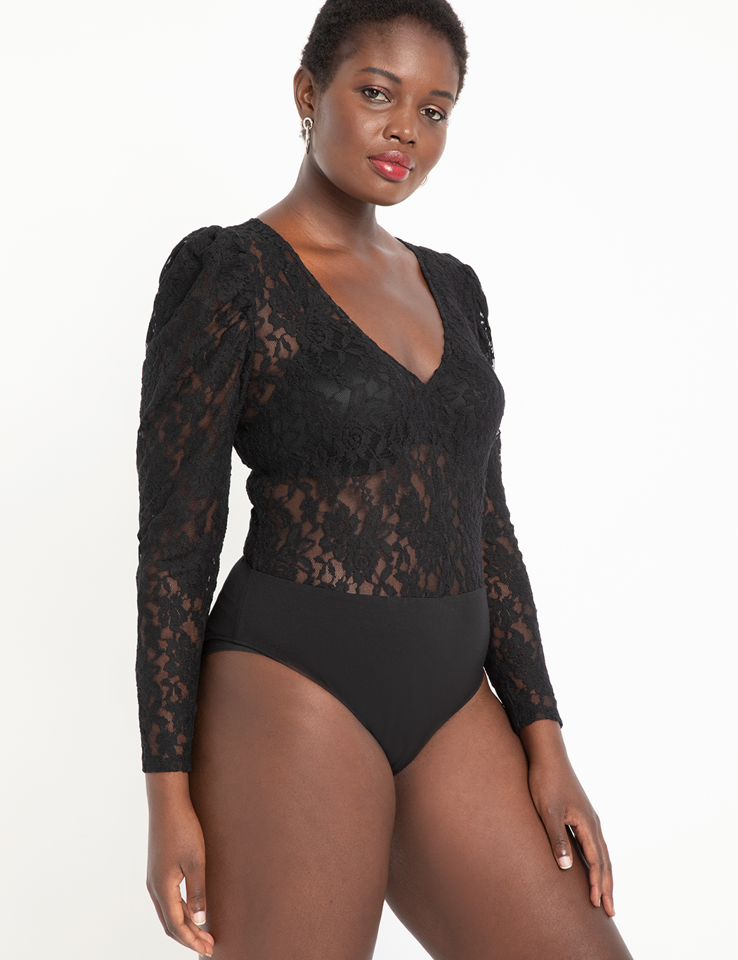 Puff Sleeve Lace Bodysuit