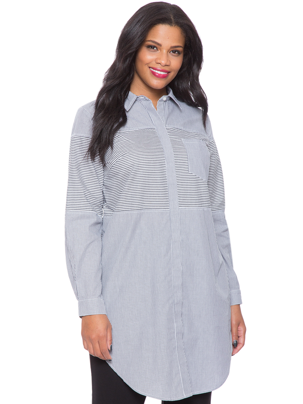 6310b25b7be Poplin Pinstripe Shirtdress