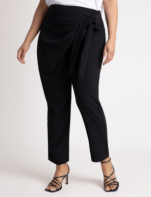 Wrap Front Pant with Tie