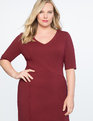 9-to-5 Stretch Work Dress Cabernet