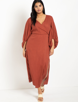 Full Sleeve Maxi Dress with Slit