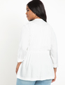 Drape Front Jacket White