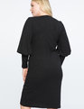 Iconic Puff Sleeve Dress Black