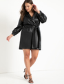 Vegan Faux Leather Romper Black