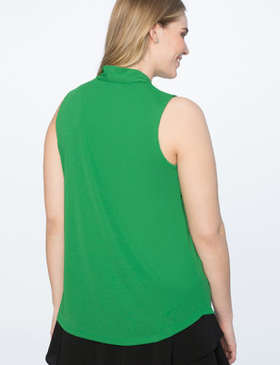 Pleated Neckline Easy Tank