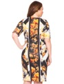 Floral Print Scuba Dress Moody Blooms Floral