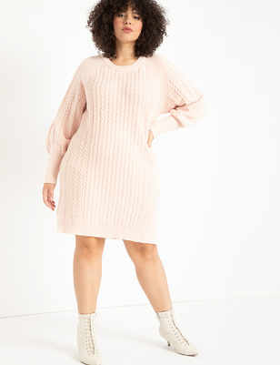Cable Detail Sweater Dress